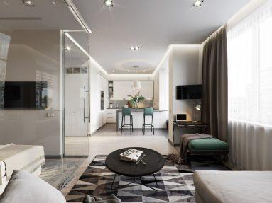 Дизайн квартиры 40 кв м в современном