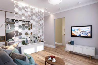Интерьер однокомнатной квартиры 40 кв м в современном
