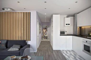 Примеры дизайна однокомнатной квартиры 40 кв м в современном