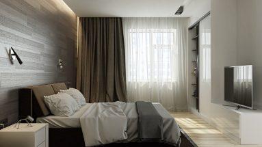 Интерьер спальни в двушке
