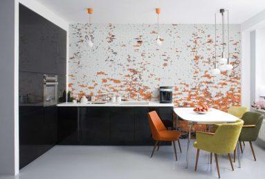 Плитка на маленькой кухне