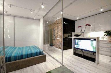 Зонирование в двухкомнатной квартире